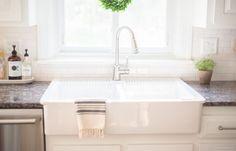 Kitchen FAQs | Ikea Farmhouse Sink | www.NinaHendrick.com - Read my honest review of our ikea domsjo farmhouse sink.