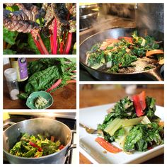 Farm Fresh Now: Swiss Chard of Many Colors (+ a recipe!) - Chard will always be there for you. Like a reliable friend, it is one of the greatest, and often least appreciated, of all the gifts from your local farmer. Chard Recipes, Spinach Recipes, Eating Raw, Healthy Eating, Healthy Foods, Green Chile Stew, Rainbow Chard, Eat Seasonal, Sustainable Food