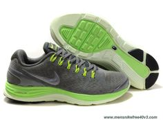 Mens Nike LunarGlide 4 Suede Stealth Silver Electric Green 524977-007 Sale