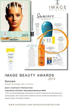 Image Beauty Awards 2014 - Suncare: Prevention+! www.imageskincare.com
