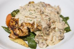 I Conquered This Recipe - Pan Seared Chicken Strips With Mushroom Sauce Creamy Mushroom Sauce, Creamy Mushrooms, Stuffed Mushrooms, Stuffed Peppers, Chefs, Pan Seared Chicken, Spanish Dishes, Chicken Strips, Roasted Vegetables