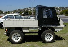 Origonally designed for the swiss alps Mtn roads, this 'truck' can haul a quater ton. It also has a creeper gear so if you load it with hay and want to feed your livestock in the pasture you can hop out while its running in gear and walk it behind it, unload it, and feed the livestock.