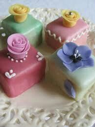 Assorted Flower Petit Fours