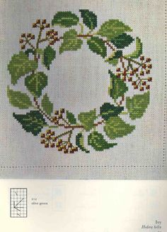 Gallery.ru / Фото #1 - Веночки от Герды Бенгтссон - Mosca Counted Cross Stitch Patterns, Cross Stitch Embroidery, Hand Embroidery, Flower Patterns, Flower Designs, Cross Stitch Geometric, Christmas Embroidery, Cross Stitch Flowers, Christmas Cross