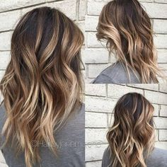 Layered, Wavy Hairuts for Medium Hair - Balayage Medium Hairstyles