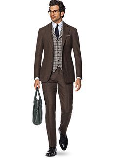Suitsupply Suits: Soft-shoulders, great construction with a slim fit—our tailored, washed and formal suits are ideal for any situation. Mens Fashion Uk, Suit Fashion, Look Formal, Formal Suits, Brown Suits For Men, Cashmere Suit, Suit Supply, Suit Combinations, Elegant Man