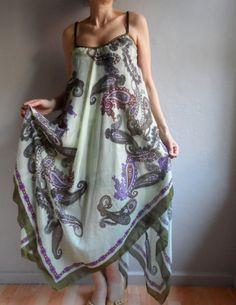 Maxi Dress, Summer Dress in Green Purple, Sundress for Women, Sleeveless Plus Size Dress on Etsy, €23,96