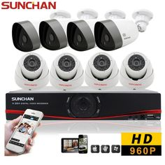 8CH 1080N HDMI DVR 960P HD Security Camera System Indoor Outdoor Home CCTV Kits #SUNCHAN