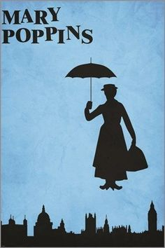 MARY POPPINS classic character poster DISNEY COLLECTORS famous movie 24X36