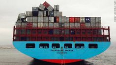 Ship loses more than 500 containers in heavy seas