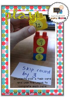 {Lego Stacks} - great for practicing patterns, sigh words, math facts and more!