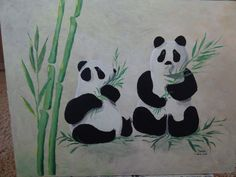 Panda's, made by J@net, April 2016