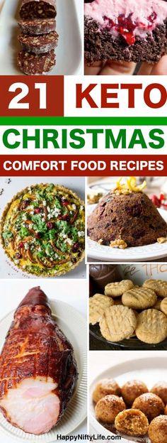 21 of the BEST Keto Christmas recipes, low carb sweet and savory foods to enjoy on the holidays including dessert, sugar cookies and egg nog. #keto #ketogenic #christmas #recipes #diet #sugarfree #sugarcookies #eggnog #pudding #keto #ketomeals #mealprep #healthyrecipes #christmasfood