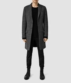 Mens Weir Coat (Black/White) - product_image_alt_text_1