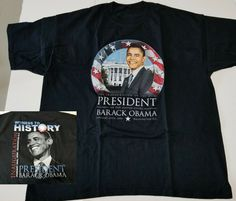 e3a463806c3e Barack Obama Inauguration of 44th President 2009 Witness To History T-Shirt  2XL #Unbranded