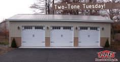 Two-Tone Tuesday!  Building Dimensions: 24' W x 40' L x 10' H 24' Standard Trusses, 4' on Center, 4/12 Pitch  Colors: Siding: Upper Color: Light Stone Lower Color: Tan Roofing Color: Charcoal Trim Color: Light Stone  For More Details: http://pioneerpolebuildings.com/portfolio/project/24-w-x-40-l-x-10-h-id-124-total-cost-14675
