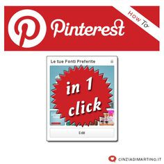 Pinterest: le tue fonti preferite in un click! | cinziadimartino.it