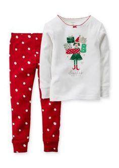 8f9e2e6291 Carter s® 2-Piece  Santa s Helper  Pajama Set Toddler Girls