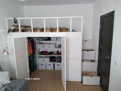 Small Room Design Bedroom, Room Ideas Bedroom, Home Room Design, Bed Design, Loft Beds For Small Rooms, Cool Loft Beds, Pinterest Room Decor, Loft Bed Plans, Dream Rooms