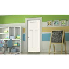 Jeld-Wen Moonglow Prehung Solid Core 3-Panel Craftsman Interior Door (
