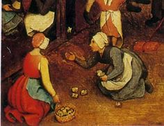 Bikkelen, Pieter Bruegel the Elder, Kinderspiele (Children's Games), detail http://pinterest.com/pin/215398794648152184/