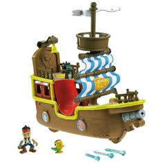 """Jake and the Neverland Pirates - Jake's Musical Pirate Ship Bucky - English Edition - Fisher-Price - Toys""""R""""Us Toys R Us, Toys For Boys, Kids Toys, Bucky, Play Doh, Terra Do Nunca, Mattel, Fisher Price Toys, Play Vehicles"""