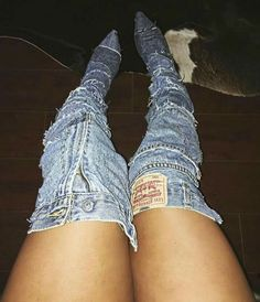 DIY Jean Boots