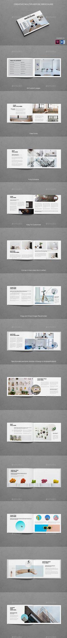 Landscape Creative Multipurpose Brochure - #Brochures Print Templates Download here: https://graphicriver.net/item/landscape-creative-multipurpose-brochure/19626811?ref=alena994