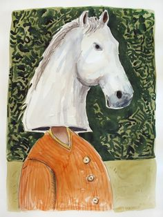 Corporate Horse by Colbert Mashile Watercolour, Cow, Horses, Artwork, Artist, Prints, Animals, Watercolor, Work Of Art