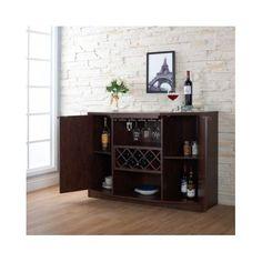 Furniture Of America Sivira Modern Espresso Multi Storage Dining Buffet By