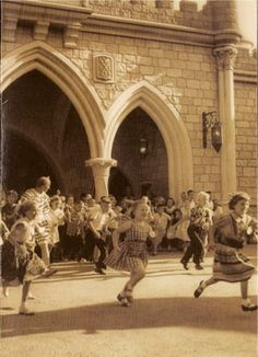 One of my favorite photos: opening day at Disneyland, July 18, 1955