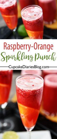 Raspberry-Orange Sparkling Punch