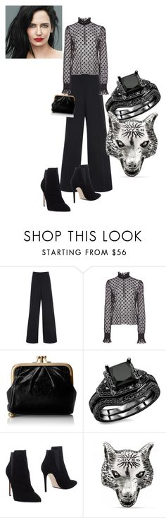 """""""My Saturday Night Outfit"""" by feralkind ❤ liked on Polyvore featuring Martin Grant, Philosophy di Lorenzo Serafini, HOBO, Le Silla and Gucci"""