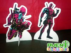 Display de Mesa do DEADPOOL | AVENT Lembrancinhas Personalizadas | Elo7