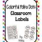 This colorful set of over 145 labels will add some fun to your classroom!     Labels included are:    - Days of the Week  - Months of the Year  - Seasons...
