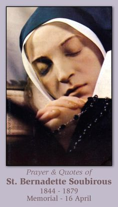 Free Catholic Holy Cards - Catholic Prayer Cards - St Therese of Lisieux - St. Joseph - Our Lady of Guadalupe - Sacred Heart of Jesus - John Paul the Great - Support Missionary work St Bernadette Body, St Bernadette Of Lourdes, Lady Of Lourdes, Catholic Prayers, Catholic Saints, Patron Saints, Roman Catholic, Incorruptible Saints, St Bernadette Soubirous