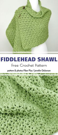 Fiddlehead Shawl Free Crochet Pattern Prayer Shawl Crochet Pattern, Prayer Shawl Patterns, Crochet Prayer Shawls, Crochet Shawls And Wraps, Crochet Scarves, Crochet Clothes, Crochet Patterns, Knitting Patterns, Crochet Baby