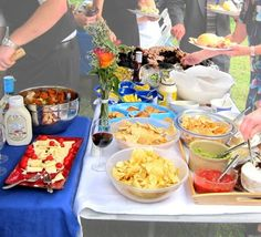 DIY Wedding Food Ideas on a Budget..were so laid back... this is perfect 2nd marriage vows