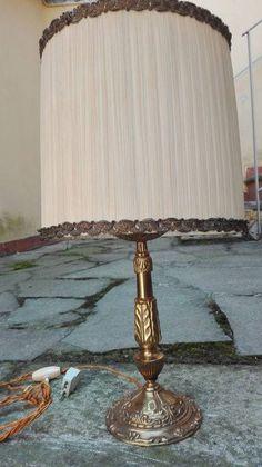Lámpara De Mesa Italiana Con Pie De Bronce Años 50 / 50'S Italian BRONZE TABLE LAMP de lahaciendavintage en Etsy