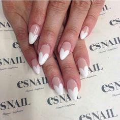 Heart French #nails #nailart