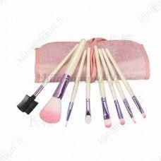 8 osainen meikkiharjasetti + säilytyslaukku