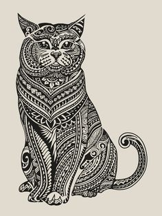 Polynesian British Shorthair cat Art Print