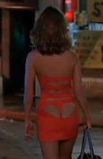 """File Under WTF?! - Fashion Phuckery in Film - Stripper Dress From 80s Horror Movie - The Hidden Bad 80s horror films have been my secret (okay not so secret) dirty pleasure for a good while now. A few months ago I came across a forgotten gem called """"The Hidden"""" starring Michael Nouri and Kyle MacLachlan, circa 1987..... #FashionPhuckery #funny #IHeartThe80s #LOL #Movies #WTF #Youtube"""