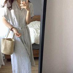 Straw Bag, Shirt Dress, Shirts, Dresses, Fashion, Vestidos, Moda, Shirtdress, Fashion Styles
