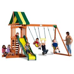 Backyard Discovery Prestige Wooden Swingset | Overstock.com Shopping - Big Discounts on Backyard Discovery Swing Sets $499