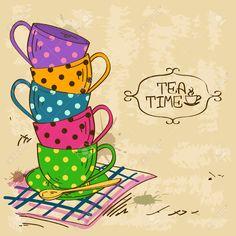 High Tea Stock Vector Illustration And Royalty Free High Tea Clipart