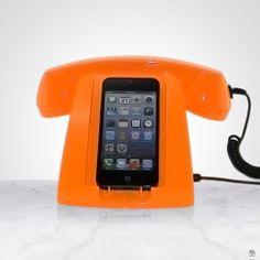 SUPORTE PARA IPHONE 5 E FONE LARANJA