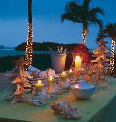Pretty beach holiday table setting!