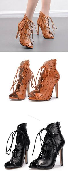 19fdab473def Summer Women Shoes Sandals Gladiator Rome Hollow Lace-up Zip Zipper Fashion  Casual Sexy Party Thin Super High Heels Cross-tied Just for  33.