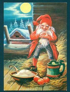 Swedish Postcard Carlsson Gnome God Jul Snow   eBay